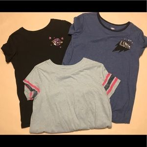 Lot of 3 Old Navy Girls t- shirts